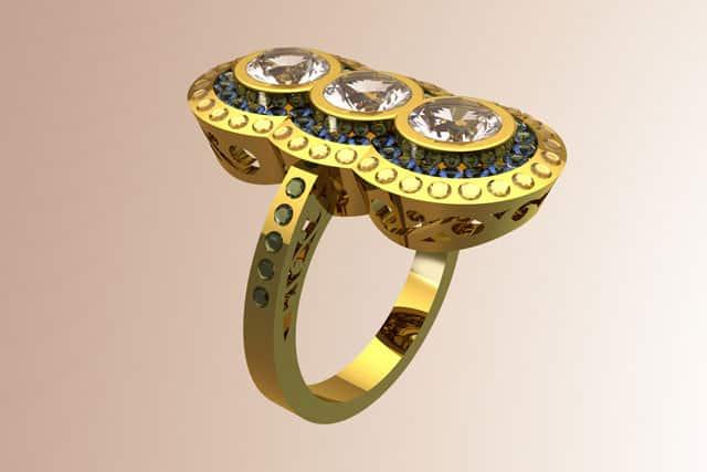 The Uniqueness of the 3-Stone Emerald Diamond Ring