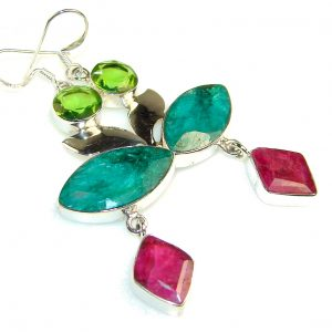Angel Voice!! Emerald Sterling Silver earrings