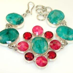Misty Morning Emerald Sterling Silver Bracelet