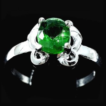 Oval Emerald Butterfly Ring
