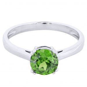 Emerald Promise Ring 10K Gold / 1.9 Grams