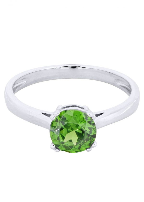Emerald Promise Ring 10K Gold / 1.9 Grams