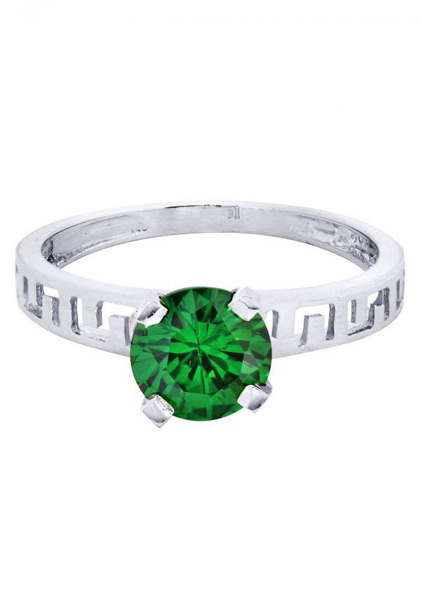 Emerald Promise Ring 10K Gold / 2.1 Grams