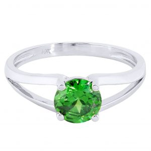 Emerald Promise Ring 10K Gold / 2.2 Grams