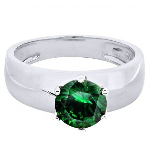 Emerald Promise Ring 10K Gold / 3.5 Grams