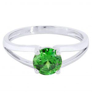 Emerald Promise Ring 10K Gold / 2.2 Grams