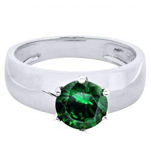 Emerald Promise Ring 10K Gold / 3.5 Grams